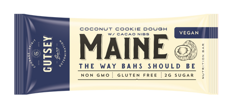 GUTSEY: MAINE - Coconut Cookie Dough w/ Cacao Nibs (12 bars)