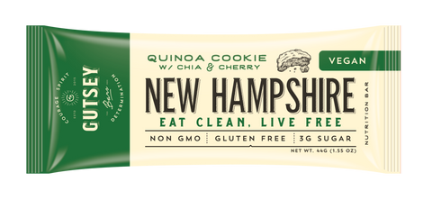 GUTSEY: NEW HAMPSHIRE - Quinoa Cookie w/ Chia & Cherry (12 bars)