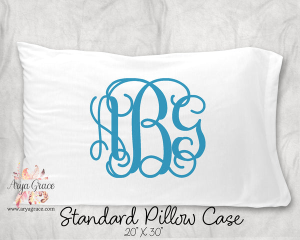 Monogram Personalized Pillow Case