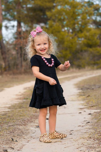 Black Twirl Dress Set