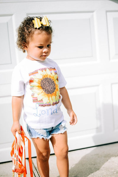 Serape Leopard Sunflower Graphic Tee
