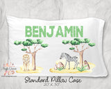 Savanna Animals Personalized Pillow Case