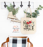 Be Joyful Canvas Tote
