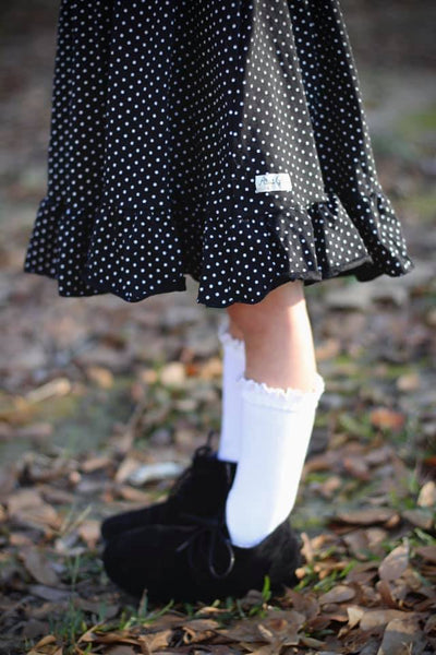 Black Dot Vintage Audrey Dress Set