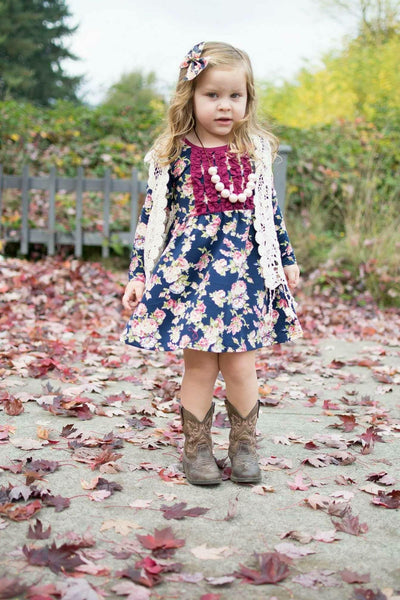 Navy Blossom Gracie Tunic