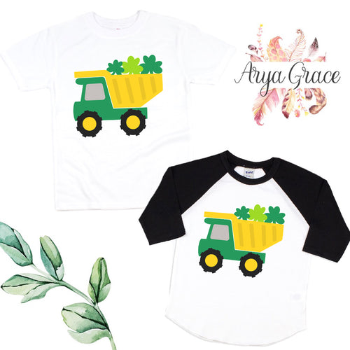 Shamrock Dump Truck Graphic Tee {Infant/Toddler Youth}