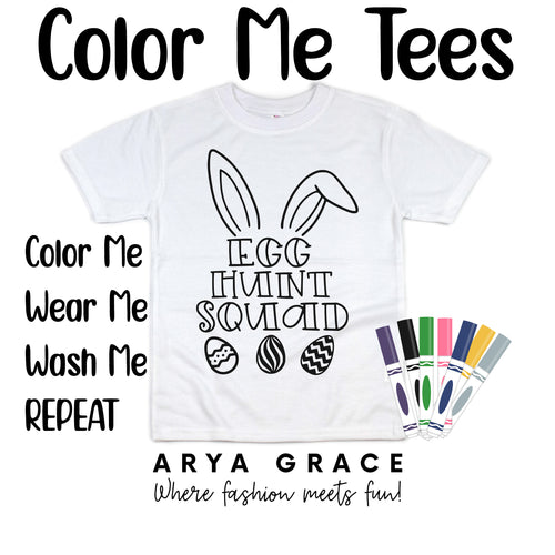 Egg Hunt Squad Color Me💙Graphic Tee {Toddler/Youth Sizing}
