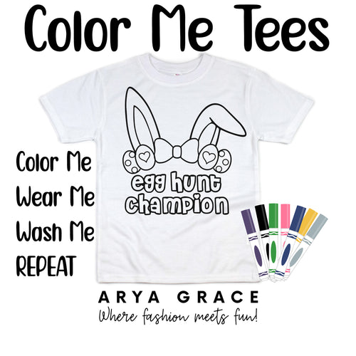 Egg Hunt Champion Color Me💙Graphic Tee {Toddler/Youth Sizing}