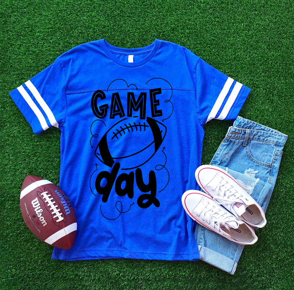 Game Day Graphic Tee {Football Jersey Adult Sizing}