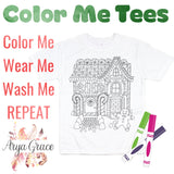 Gingerbread House Color Me💙Graphic Tee {Toddler/Youth Sizing}
