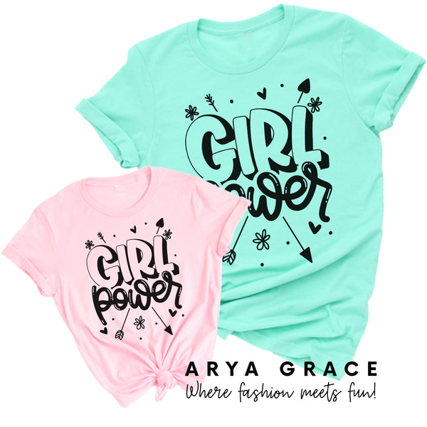 Girl Power Graphic Tee Toddler/Youth Wholesale Packs