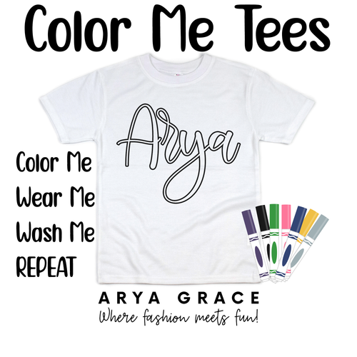 Haisley Font Color Me💙Name Graphic Tee {Toddler/Youth Sizing}