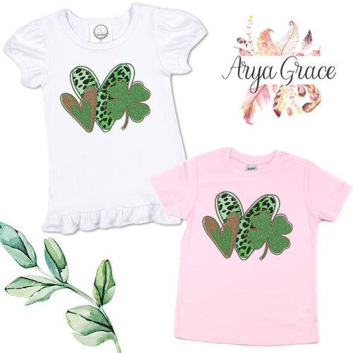 Hearts with Shamrock Graphic Tee {Infant/Toddler Youth}