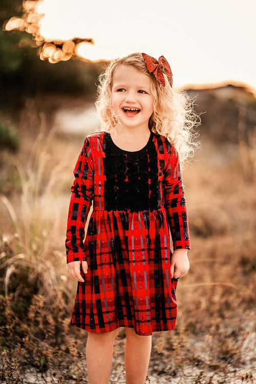 Sparkling Buffalo Plaid Gracie Tunic
