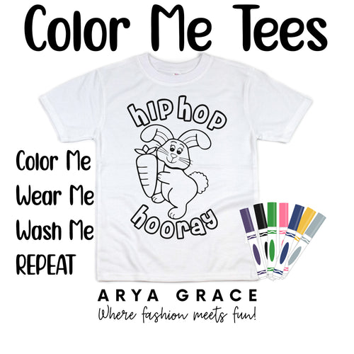 Hip Hop Hooray Color Me💙Graphic Tee {Toddler/Youth Sizing}