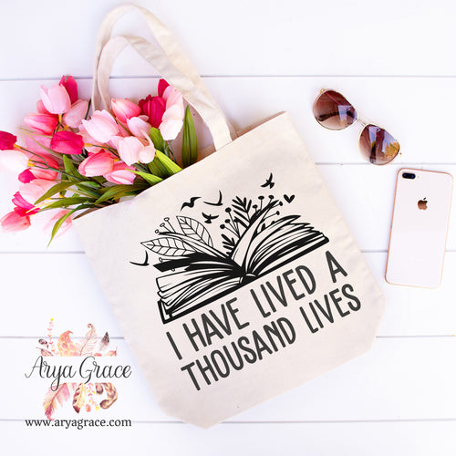 I Have Lived a Thousand Lives Canvas Tote