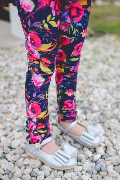 Blooms of Hope Button Leggings