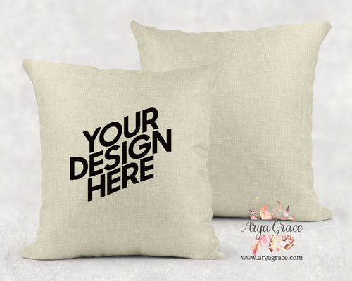 Faux Linen Fabric Pillow Cover {Complete Customization Just for You}