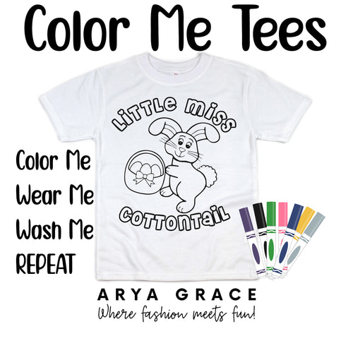 Little Miss Cottontail Color Me💙Graphic Tee {Toddler/Youth Sizing}