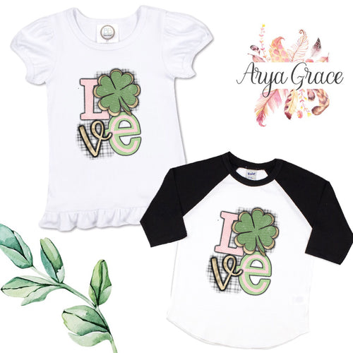 Love Clover Graphic Tee {Infant/Toddler Youth}