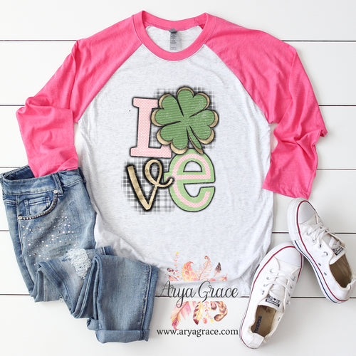 Love Clover Graphic Tee {Adult Unisex Sizing}