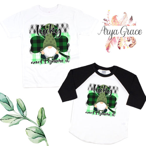 Lucky and I Gnome it Graphic Tee {Infant/Toddler Youth}