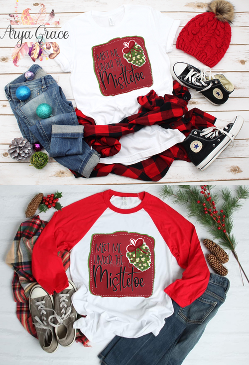 Meet Me Under the Mistletoe Graphic Tee