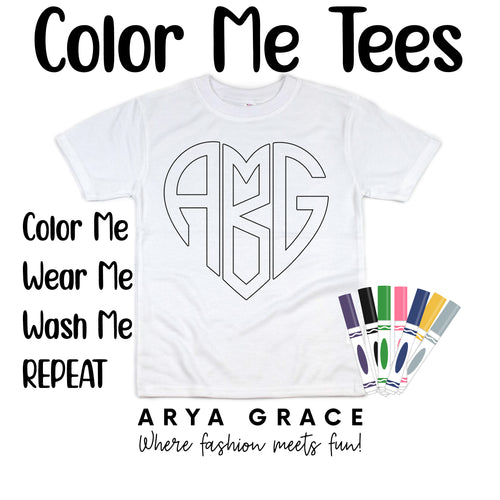 Monogram Color Me💙Name Graphic Tee {Toddler/Youth Sizing}
