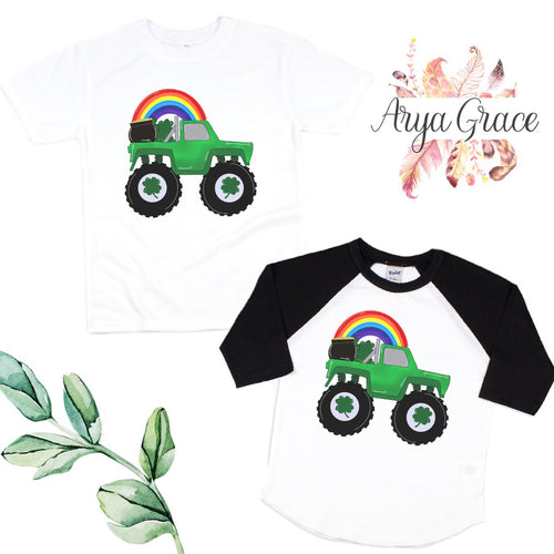 Monster Truck with Rainbow Graphic Tee {Infant/Toddler Youth}