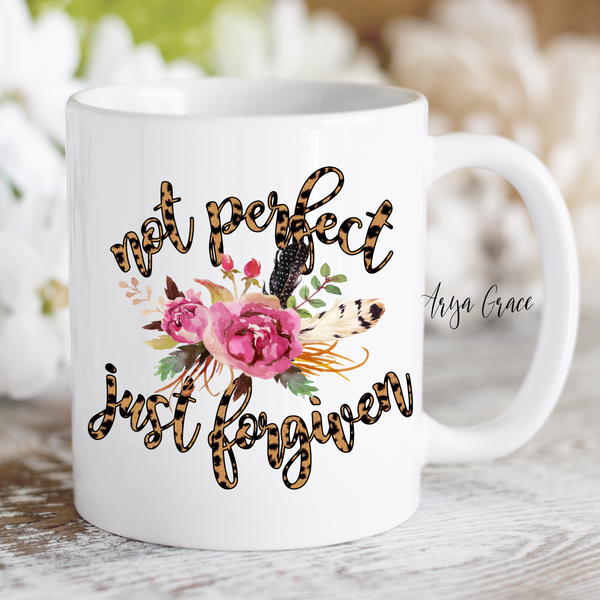 Not Perfect Just Forgiven Coffee Mug