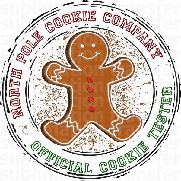 Official Cookie Tester Sublimation Transfer