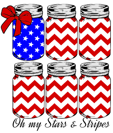 Oh My Stars + Stripes Graphic Tee