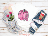 Pink Pumpkin Awareness Ribbon Graphic Tee