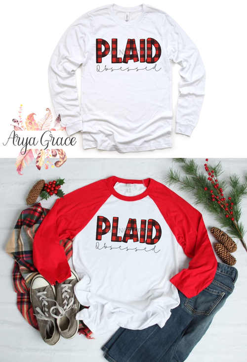 Plaid Obsessed Graphic Tee