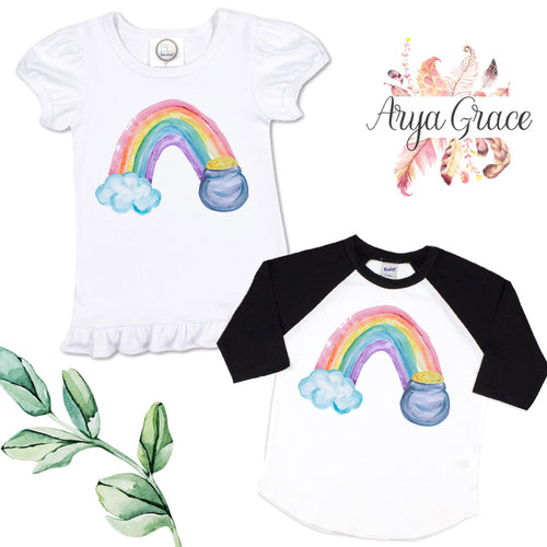 Rainbow with Pot of Gold Graphic Tee {Infant/Toddler Youth}