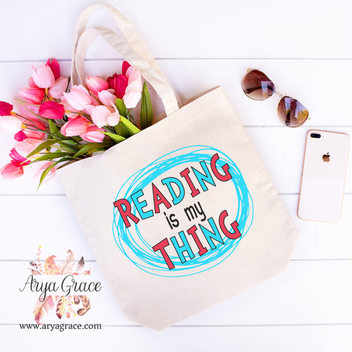 Reading is My Thing Canvas Tote