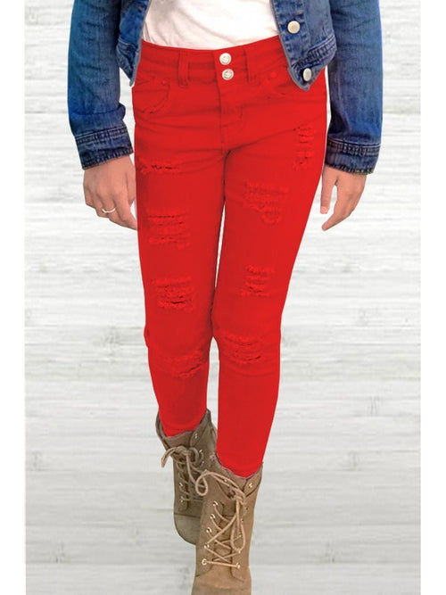 Red Distressed Denim PREORDER