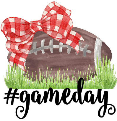 #Gameday Football Bow Graphic Tee