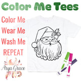 Santa Color Me💙Graphic Tee {Toddler/Youth Sizing}