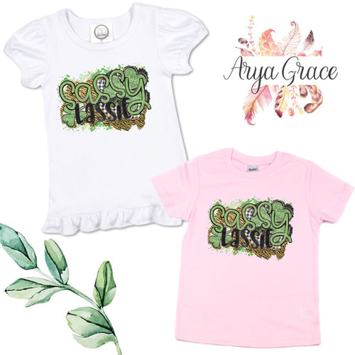 Sassy Lassie Graphic Tee {Infant/Toddler Youth}