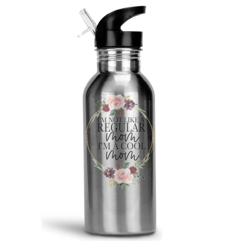 Stainless Steel 20oz Water Bottle with Stem/Straw Top