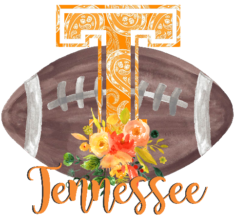 Tennessee Floral Football Graphic Tee