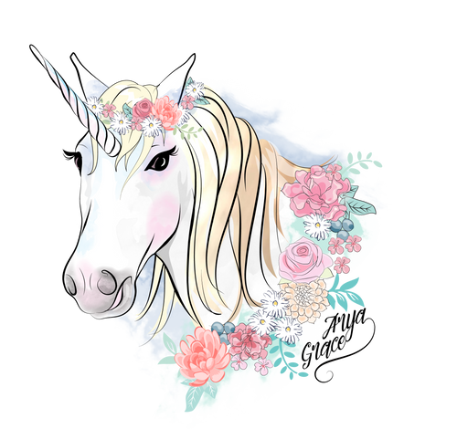 Unicorn Graphic Tee {Arya Grace Exclusive Desgin}