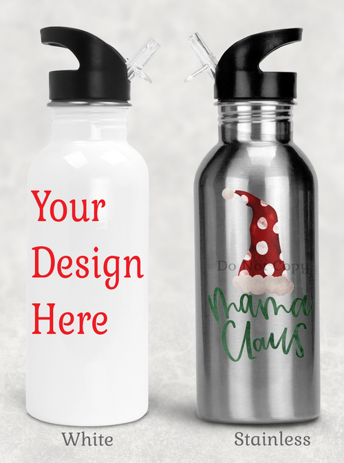 Water Bottle with Stem Straw (Customized Just For You)