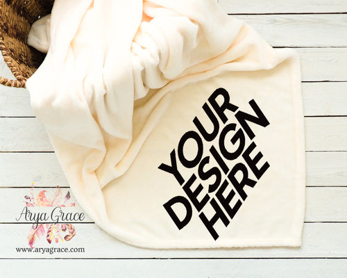 Customize Your Own Cream Soft Micro Fleece Blanket