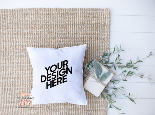 White Fabric Pillow Cover {Complete Customization Just for You}