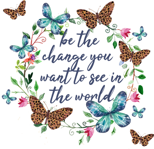 Be the change you want to see in the world (Leopard Butterflies) Graphic Tee