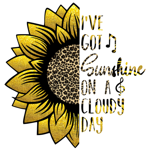 I've Got Sunshine on a Cloudy Day (Sunflower) Graphic Tee
