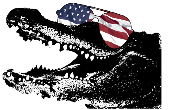 Patriotic Alligator Graphic Tee