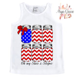 Oh My Stars and Stripes Jars Graphic Tee {Infant/Toddler/Youth}